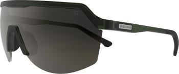 Spektrum Blank Brown Wrap Around Sports Sunglasses, Moss Green