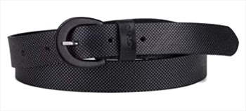 Levi's Nail Head Embossed Leather Belt, Up to 90cm Black