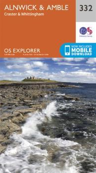 Ordnance Survey Explorer 332 Alnwick & Amble Area Map