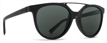 Von Zipper Hitsville Vintage Grey Lens Sunglasses, Black Satin