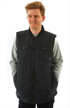 Saga Insulated Vest Ski/Snowboard Body Warmer/Gilet, L Black