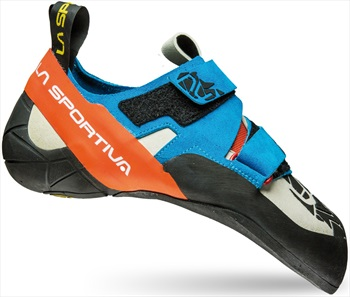 La Sportiva Otaki Rock Climbing Shoe: UK 9.5+ | EU 44, Blue Flame