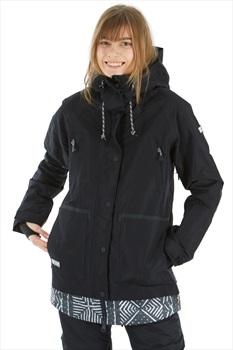 DC Riji Women's Ski/Snowboard Jacket, L Black 2020