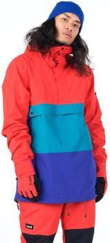 Planks Happy Days Anorak Shell Ski/Snowboard Jacket, L Hot Red
