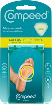 Compeed Medium 6 Callus Plasters, Clear