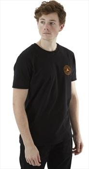 Absolute Snow Logo Short Sleeve T Shirt, L Black