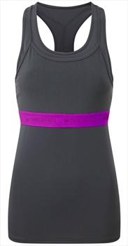 Tribe Sports Layered Racer Women's Running Vest, UK 12 Pewter Grey