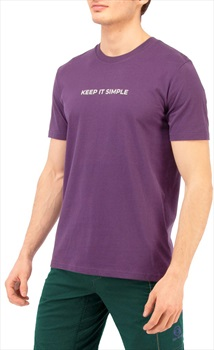 3rd Rock Life : Keep It Simple Men's Organic T-shirt, S Plum
