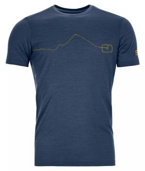 Ortovox Adult Unisex 120 Tec Mountain Merino Wool T-Shirt, M Blue Lake