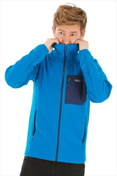 Patagonia Adult Unisex R2 Techface Hoody Softshell Jacket, L Andes Blue