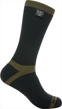 DexShell Trekking Waterproof Socks, UK 9-11 Olive Green Stripe