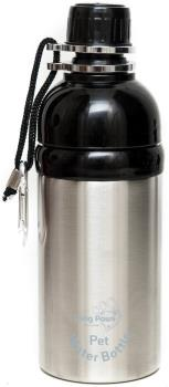 Long Paws Lick N Flow Smart Pet Water Bottle, 500ml Silver