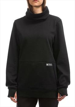 DC Veneer High Neck Women's Snowboard/Ski Pullover Fleece M Black