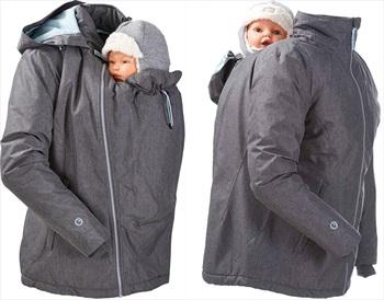 Mamalila Winter Baby Wearing Maternity Jacket/Coat, UK 16 Grey