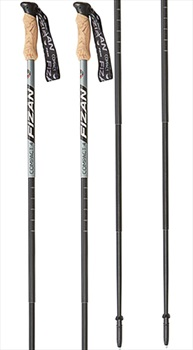 Fizan Compact 4 Adjustable Trekking Poles, 51-125cm Grey
