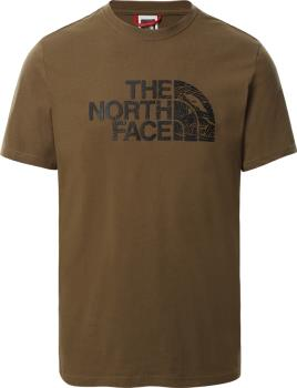 The North Face Woodcut Dome Short Sleeve T-shirt, S Military Olive