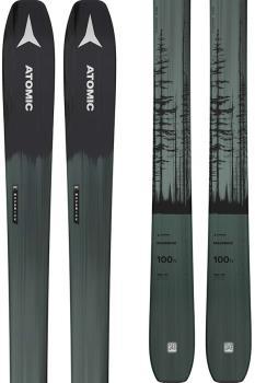 Atomic Maverick 100 TI Ski Only Skis, 180cm Black/Dark Green 2022