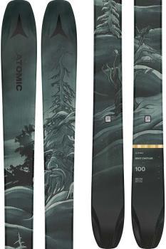 Atomic Bent Chetler 100 Skis 180cm, Grey/Green, Ski Only, 2022