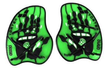 arena Vortex Evolution Swimming Hand Paddles, L Acid Lime