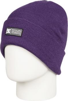 DC Label Cuffed Ski/Snowboard Beanie Hat, Grape