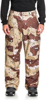 DC Code Ski/Snowboard Shell Pants, S Chocolate Chip Camo
