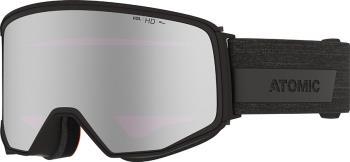 Atomic Four Q HD Silver Stereo Snowboard/Ski Goggles, L Black