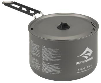 Sea to Summit Alpha Pot Lightweight Camping Cookware, 1.9L Grey