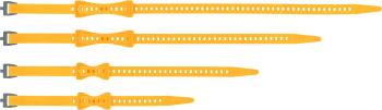 Sea to Summit Stretch-Loc Adjustable Gear Straps, 4 Pack Yellow