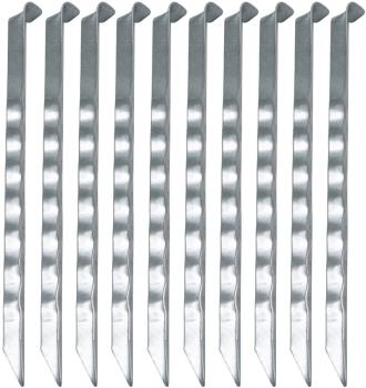 Bo-Camp Serrated Tent Pegs Camping Ground Stake Pack of 10, 24cm