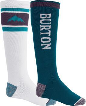 Burton Adult Unisex Weekend Mw 2pk Ski Socks, M Stout/White Dynasty Green