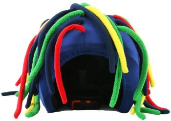 Coolcasc Show Time Ski/Snowboard Helmet Cover One Size Primary Dred