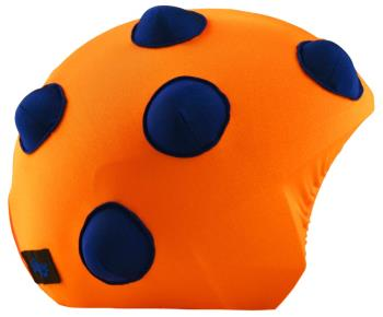 Coolcasc Show Time Ski/Snowboard Helmet Cover One Size Orange Bump