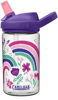 Camelbak Eddy+ Kids Children's Water Bottle, 0.4L Rainbow Floral