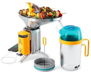 BioLite Campstove 2 Complete Cook Kit Stove, Grill & Kettle Set