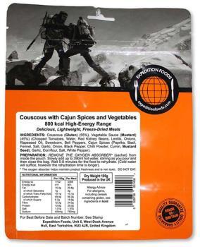 Expedition Foods Vegan Couscous + Cajun Spices & Veg Hiking Meal