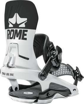 Rome DOD Snowboard Bindings, M/L Black/White 2021