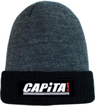 Capita MFG Beanie Snowboard/Ski Hat, One Size Black/Grey