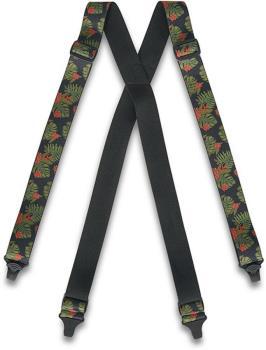 Dakine Hold'Em Suspenders/Braces, M Jungle Palm