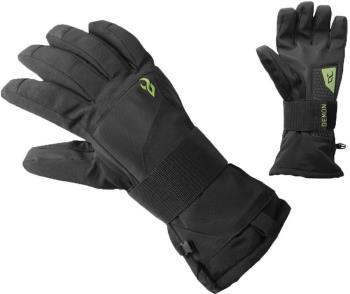 Demon Cinch Wrist Guard Ski/Snowboard Gloves, L Black/Green