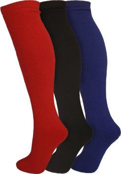Manbi Essential 3-Pack Ski/Snowboard Socks, UK 4-11 Red/Black/Blue