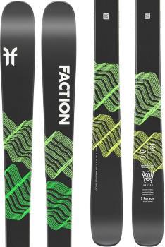 Faction Prodigy 0.0 Ski Only Skis, 157cm Black/Yellow 2022
