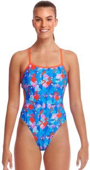 Funkita Cut Away Women's One-Piece Swimsuit, UK 12 Flaming Vegas