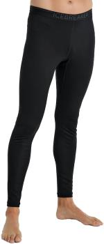 Icebreaker 200 Oasis Leggings Merino Wool Base Layer Bottoms XL Black