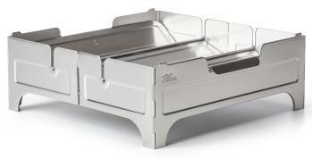 Wolf & Grizzly Fire Safe Compact Portable Firepit, Stainless