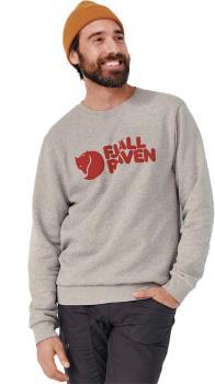 Fjällräven Logo Pullover Sweatshirt, XL Grey-Melange