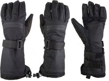 Demon Flexmeter Double Sided Ski/Snowboard Wrist Guard Gloves, L