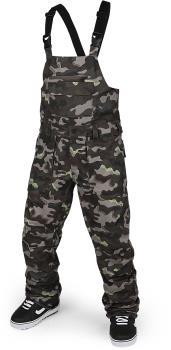 Volcom Adult Unisex Roan Bib Overall Snowboard/Ski Pants, S Army