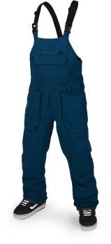 Volcom Adult Unisex Roan Bib Overall Snowboard/Ski Pants, L Blue