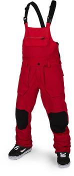 Volcom Adult Unisex Roan Bib Overall Snowboard/Ski Pants, M Red
