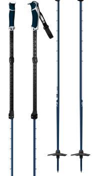 G3 Via Ski Poles, Adjustable 115cm-145cm Navy